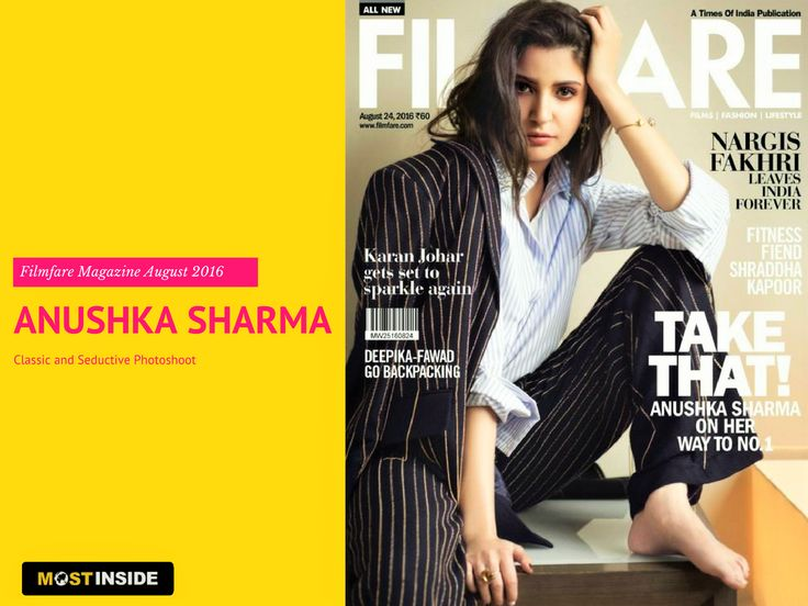 #AnushkaSharma's Classic and #Seductive #Photoshoot for 2016 #Filmfare #Magazine August Cover