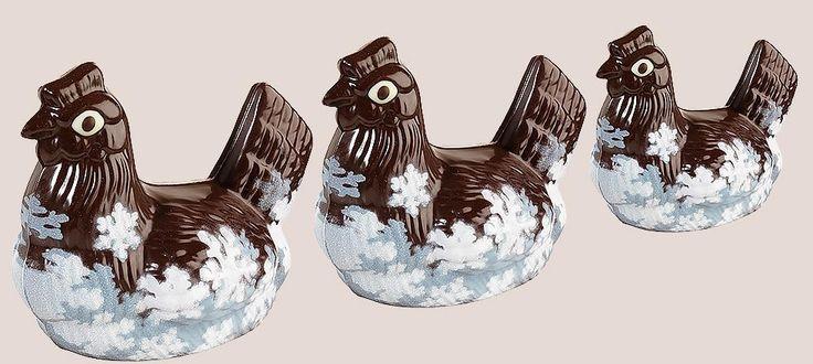 Poule Givrée. Poule de Pâques en chocolat noir 68%. Collection Jean-Paul Hévin Pâques 2015