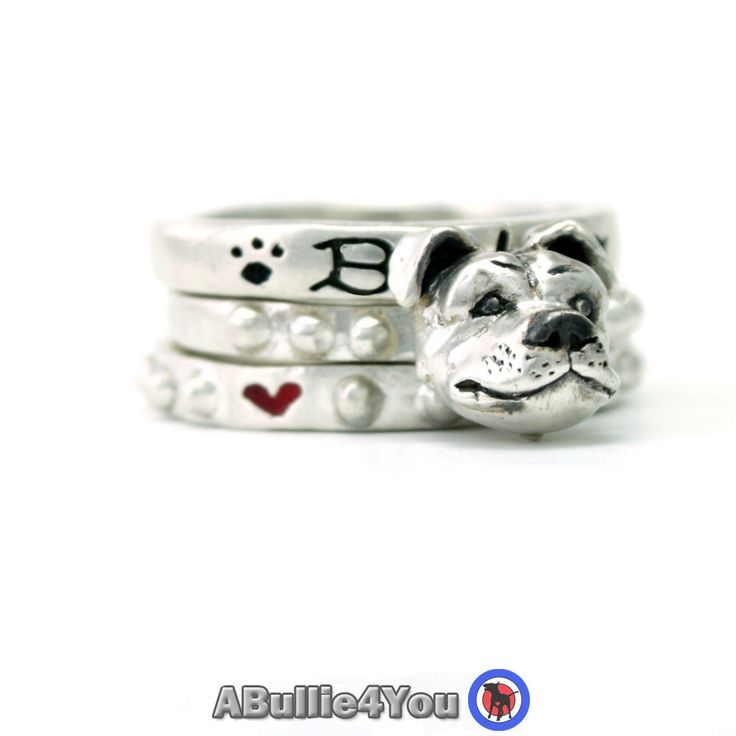 Staffordshire Bull Terrier Dog Stack Ring 925 Sterling Silver - Ideal Christmas Gift by ABullie4You on Etsy https://www.etsy.com/listing/251358097/staffordshire-bull-terrier-dog-stack