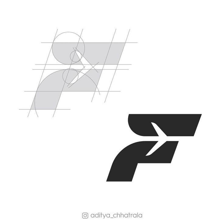 F Lettermark Construction Guidelines Cons Logo Design Inspiration Creative Graphic Design Logo Logotype Typography