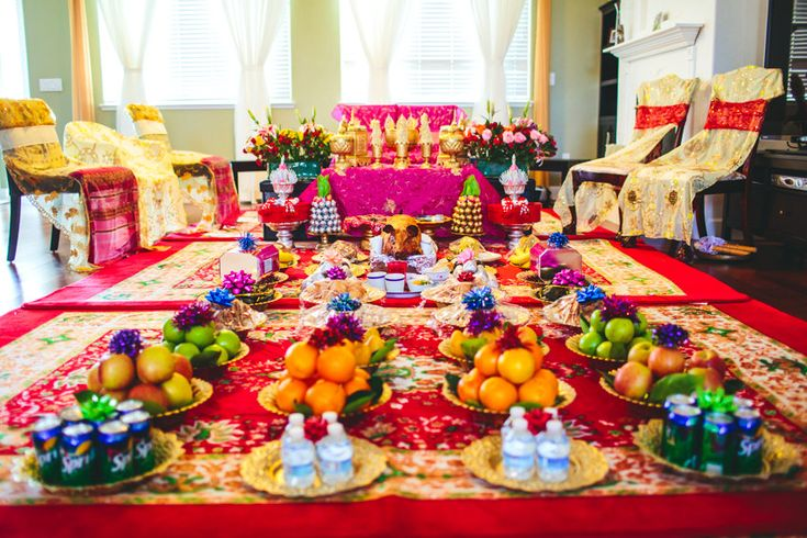 This food is brought as a dowry from the groom and his family and offered to the bride's parents during a Cambodian wedding.