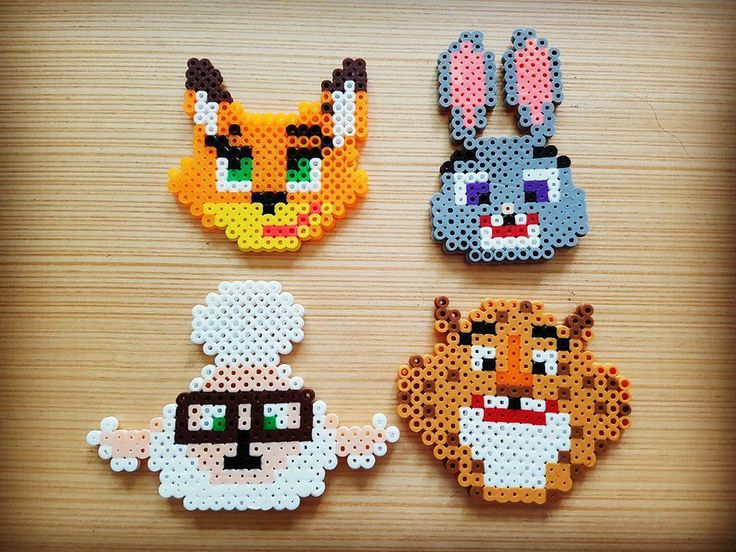 Zootopia characters perler beads by dlwlsk3                                                                                                                                                                                 More