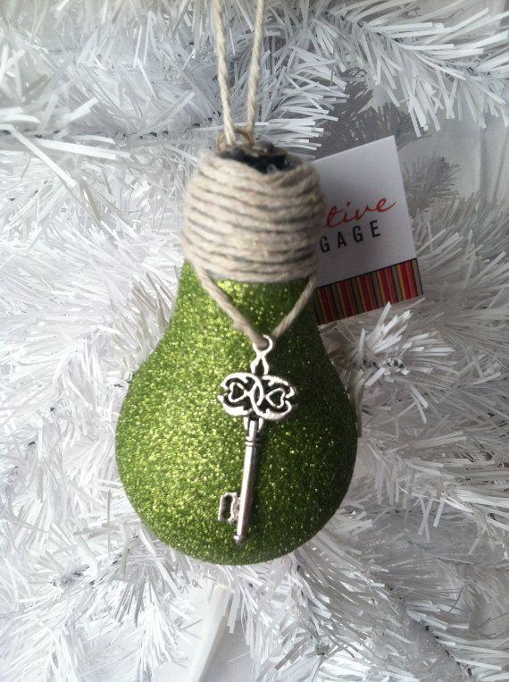 Handmade Christmas Ornaments, Lightbulb Ornaments, Christmas Ornaments Handmade by Creativebaggage on Etsy