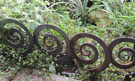 ON SALE!!  33% OFF Alternate Spiral Garden Stake, Steel Garden decor, planter edge, Garden edging on Etsy, $4.00