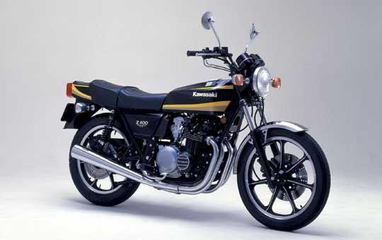 〔カワサキ〕【Z400FX】    1979-1982 空冷4ストローク2バルブ直列4気筒 最高出力43ps/9500rpm  ・通称「フェックス」