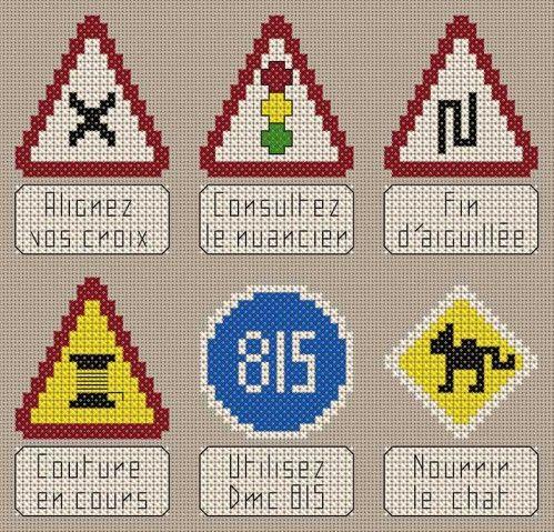 Véhicule - véhicle - code de la route brodeuse - point de croix - cross stitch - Blog : http://broderiemimie44.canalblog.com/
