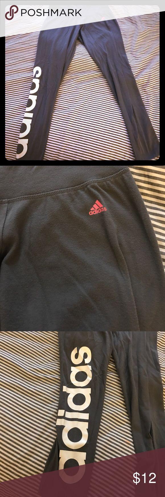 Adidas Leggings Cute Gray Adidas Cotton Leggings, comfortable, great condition, size small Adidas Pants Leggings