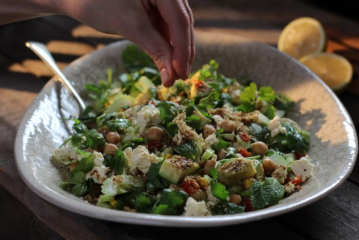 Spicy Moroccan Chickpea Salad - Recipes by Sarah Graham