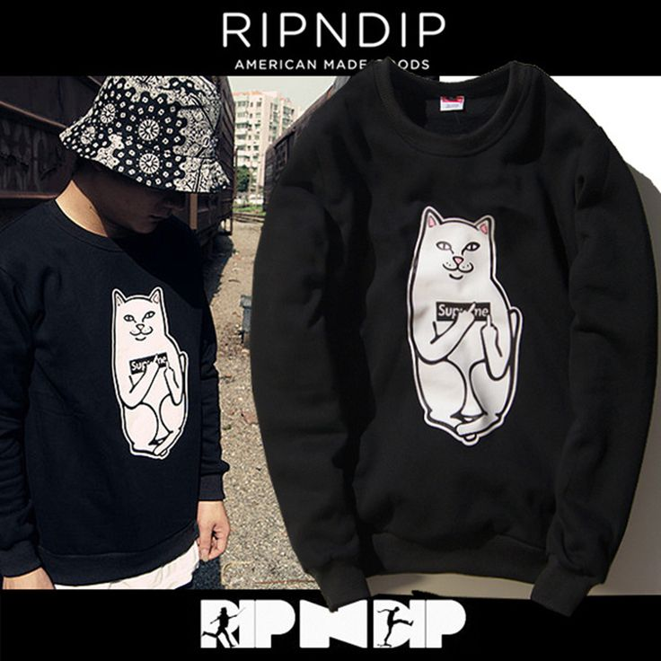 Ripndip Middle Finget Pocket Cat Sweatshirt //Price: $42.00 & FREE Shipping //     #instagood