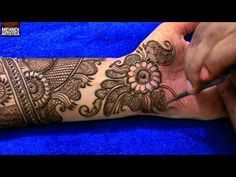 Step by Step Latest Full Hand Mehndi Design For Hand 2017 # 1010+ - YouTube