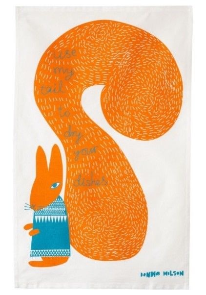 eclectic dishtowels by Donna Wilson