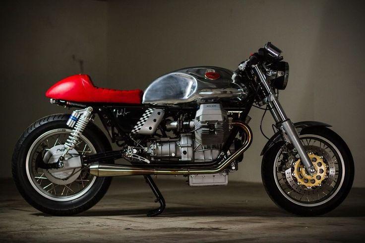 "Moto Guzzi Cafe Racer ""The Italian Job"" by Barn Luck #motorcycles #caferacer #motos | caferacerpasion.com"