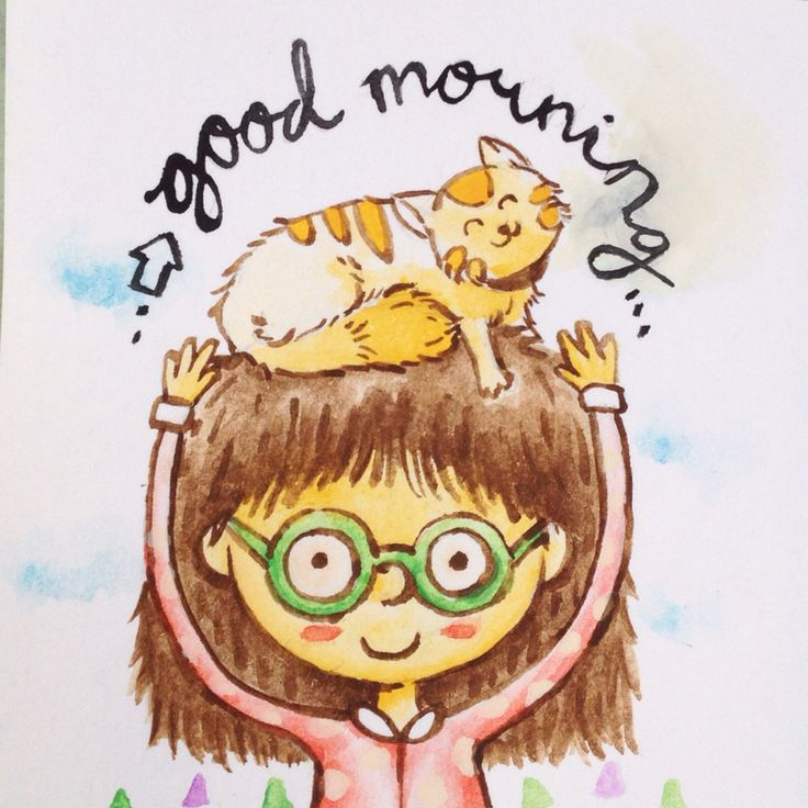Good morning happy sat :D this my lovely kitty .. Aquarelle again, doodle again, i'm happy when i made it :D