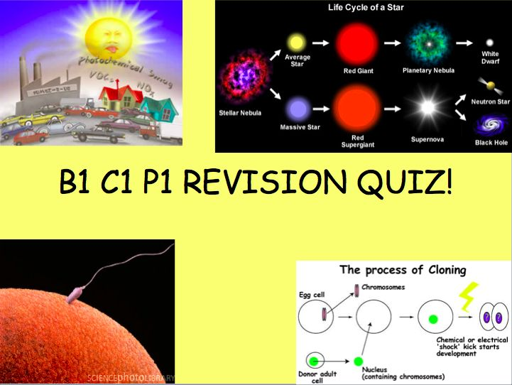 Great science revision quiz to cover B1, C1 and P1. Very useful and engaging!