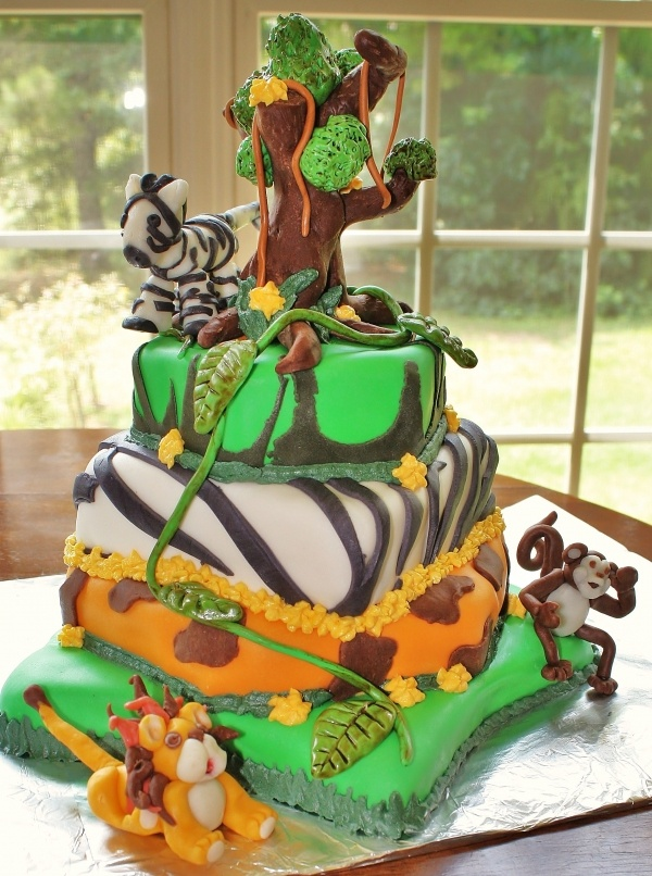 Chocolate Tiered Birthday Cake