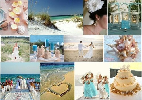 Casual Beach Wedding http://www.weddingcolorthemes.com/beach-wedding-themes-ideas-decorations/