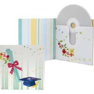 Boîte CD/DVD (Fin d'études),Maison et espace de vie,Créations en papier,DVD,chapeau,CD,Fin d'études,diplôme de fin d'études,facile,cadeau,boîte
