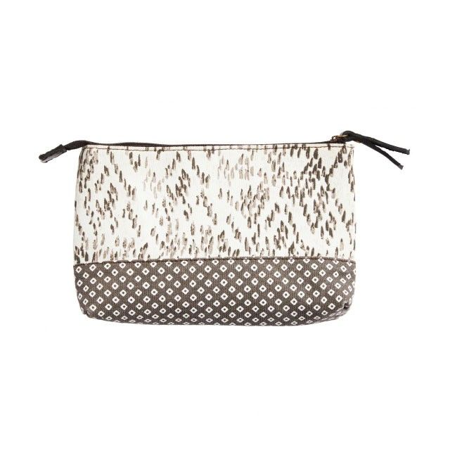 Sandwich Clothing Abstract Print Purse Taupe