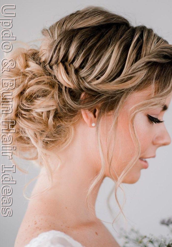 Wedding Updo Hair Styles Do Bangs Make You Look Younger For Black Women Bun Hair Styles 2020