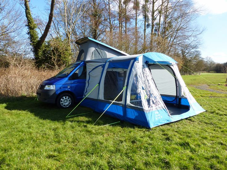 Quick To Erect Air Poled Campervan Awning Fully Waterproof 5000mm Fits All Camper