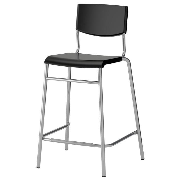 IKEA - STIG, Barstol, 63 cm, , Krakken kan stables, slik at du kan ha flere tilgjengelig og ha dem på samme sted når de ikke brukes.Med fotstøtte; slik at også dine føtter får hvile.