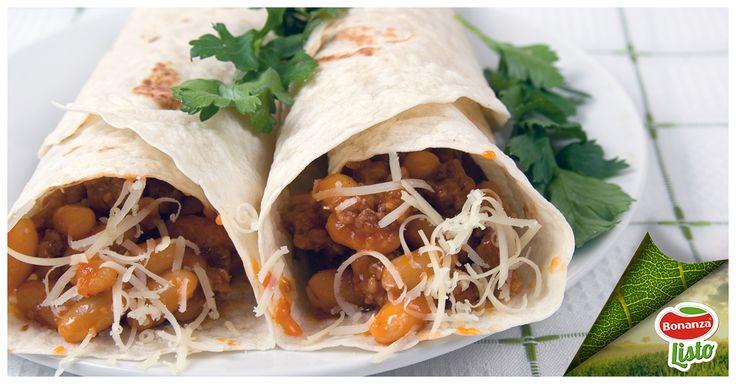 Estas tortillas mexicanas reemplazarán perfectamente un plato de fondo, ya que aportan proteínas (de los porotos) y carbohidratos. Te recomendamos acompañarlas de un abundante plato de verduras variadas.  1 cda. jugo de Limón 1/2 cdta. Sal Opcional: 1 ají, salsa tipo tabasco