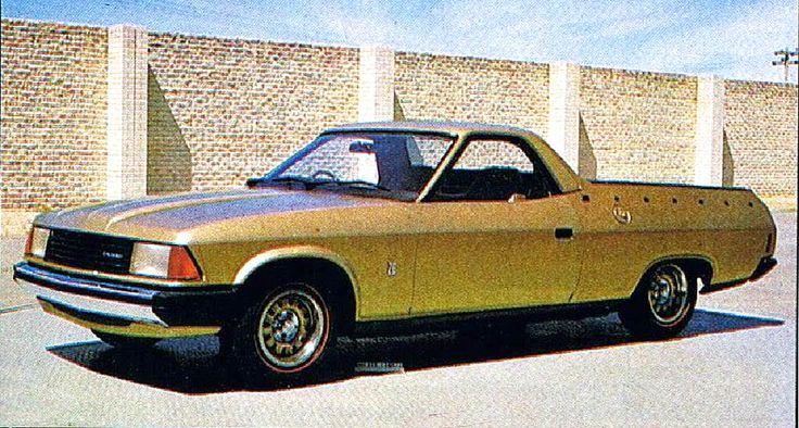 "Ford Falcon XD Ute protototype, 1977 (?). During the development of the ""radically"" new Euro-style XD Falcon of 1979 Ford considered grafting the nose of the XD onto the XC body which dated back to..."