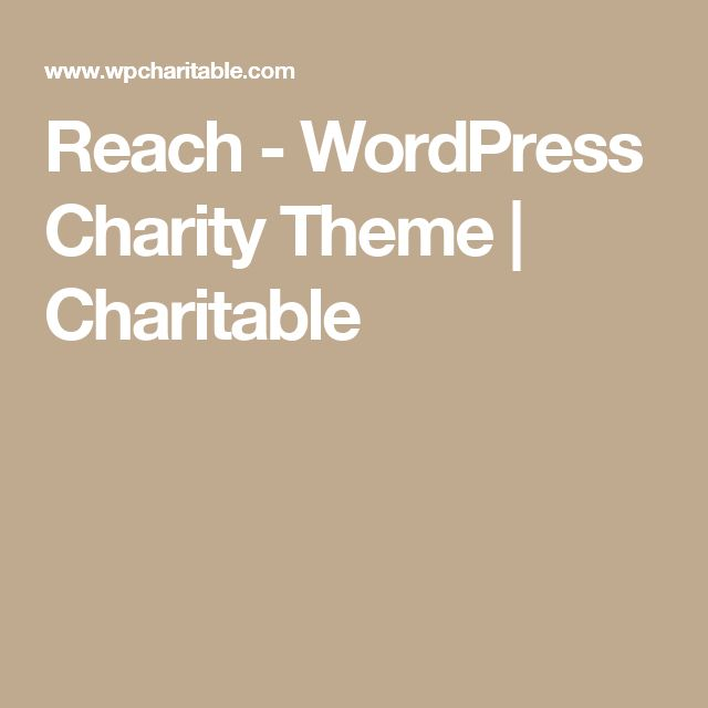 Reach - WordPress Charity Theme | Charitable