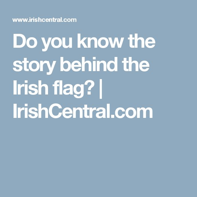 what does the irish flag stand for