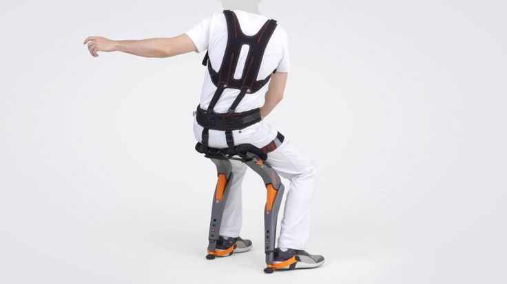 The Chairless Chair, as it is called, is designed primarily for manufacturing environments, where workers are required to stand for long periods of time and where traditional chairs would be an obstacle.