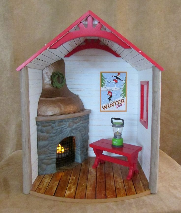 Winter Chalet retired American Girl Doll holiday house cabin cottage like you #AmericanGirl #HousesFurniture
