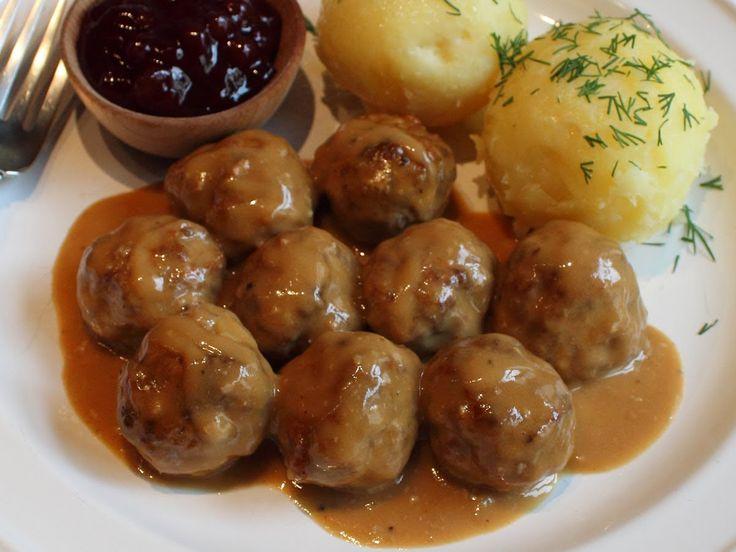 Swedish Meatballs Recipe -- Beef & Pork Meatballs with Creamy Brown Gravy
