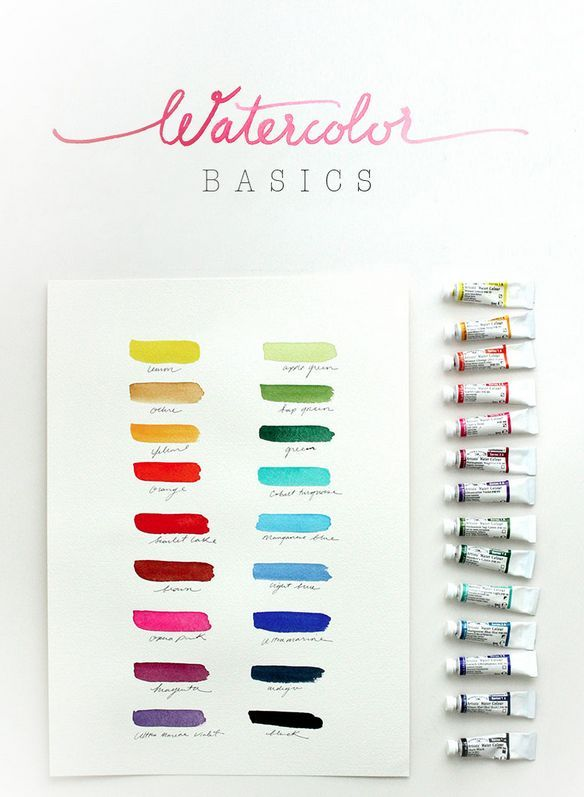 "Watercolor Basics (a 5-part tutorial series), I would LOVE to learn watercolor! . . . from ""The Alison Show"":"