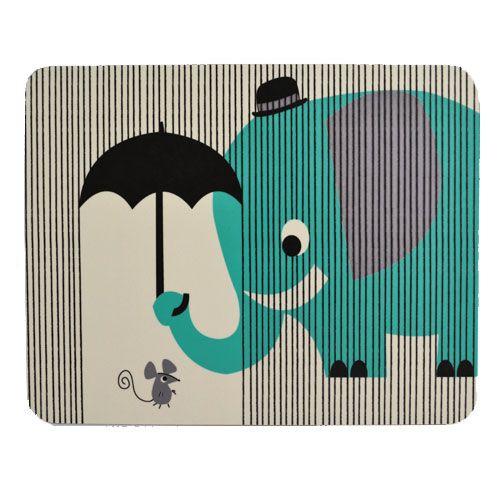 EAGER ELEPHANT MELAMINE PLACEMAT © Kay Vincent
