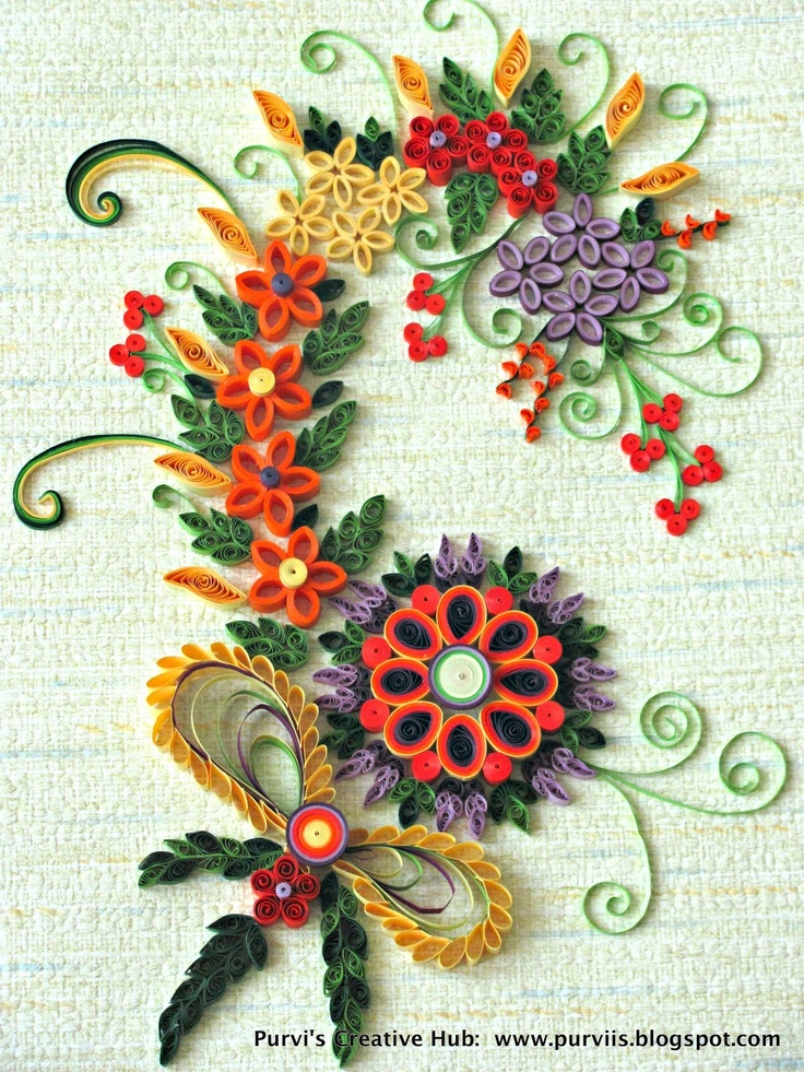 77 best quilling art images on pinterest paper crafts for Quilling paper art