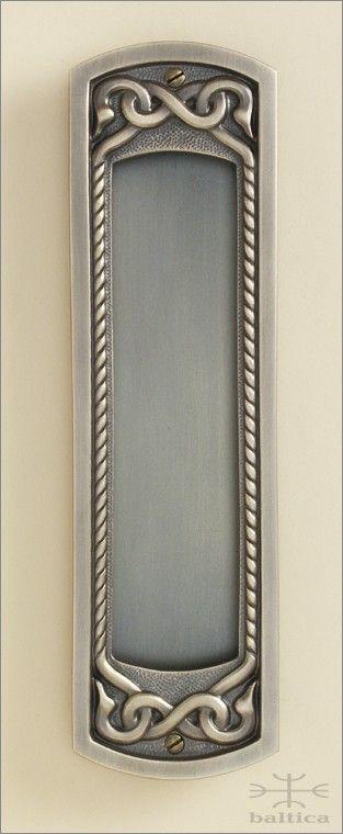 pocket door pull - Telluride recessed pull W, 204mm - antique brass - Custom Door Hardware - handcrafted by master artisans of Baltica Hardware  www.balticacustomhardware.com