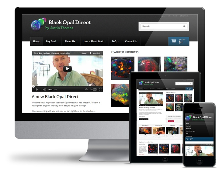A wordpress ecommerce re-design for Black Opal Direct