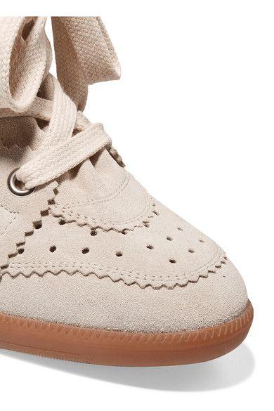 Isabel Marant - Bobby Suede Wedge Sneakers - Beige - FR39