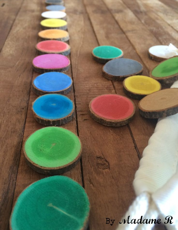 DIY – un Memory en rondelles de bois