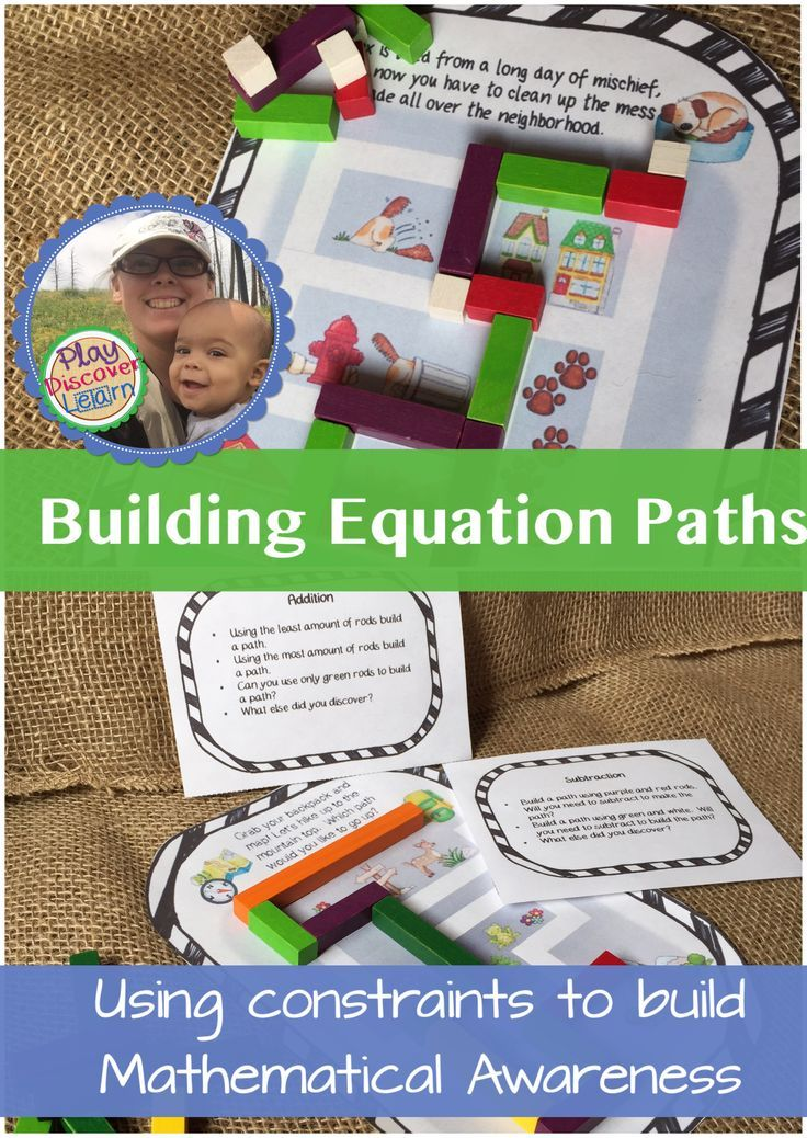 Cuisenaire Rod Activities that give students freedom to design their own equations by building paths using rods.  Extension activities provide constraints to develop mathematical awareness. Based on Gattegno's pedagogy.