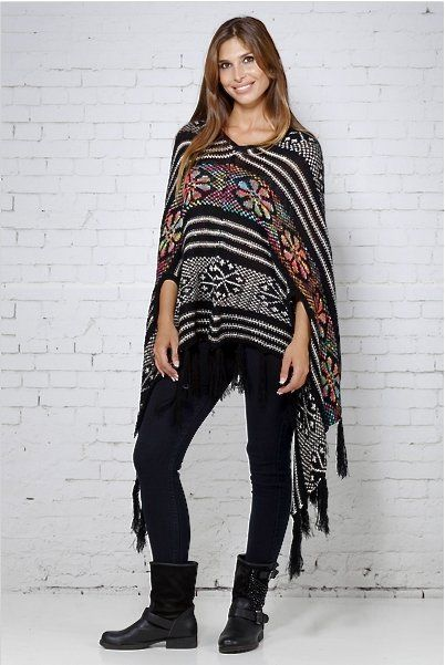 Peace and Love poncho flecos - Complementos Zeppelin