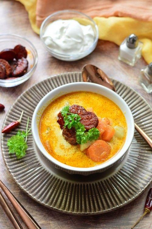 Kolbászos krumplileves recept