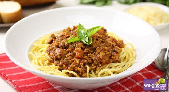 Spaghetti Bolognese - weightloss.com.au