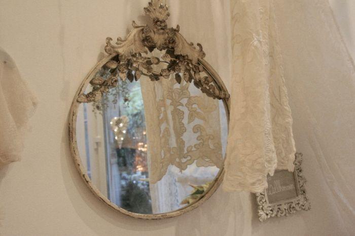 Spiegel Nostalgie antik finish oval groß