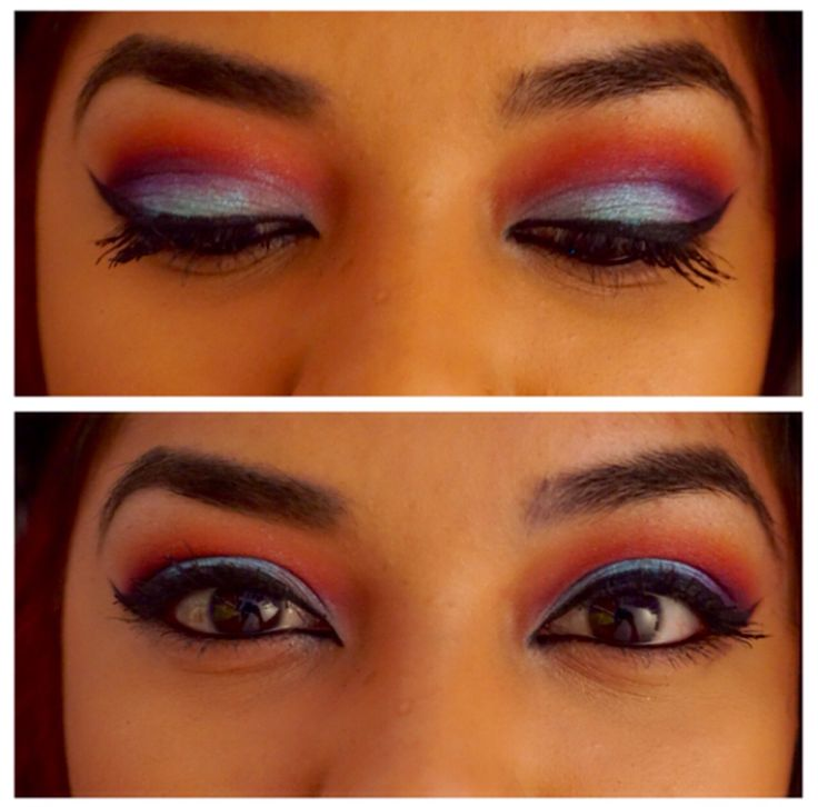 Colorful look using Sugarpill's Pro Palette