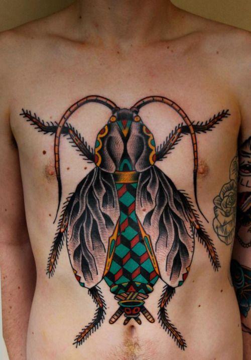 Lower Hip Tattoo ideas: Insect Tattoo Sleeve