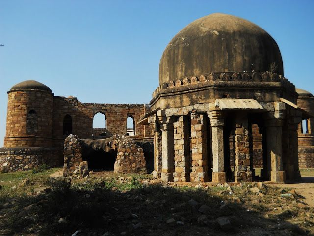 South Delhi. The Sultan Ghari, Delhi's first Islamic tomb, and one of it's most obscure monuments. It was built in 1231 for one of the sons of Iltutmish, the third ruler of the Mumluk, or Slave, dynasty of the Delhi Sultanate. The tomb was constructed before most of the trends that are now associated with Indian Islamic funerary architectural came into their own, the result of which being that the design of the tomb is unique among Delhi's monuments.