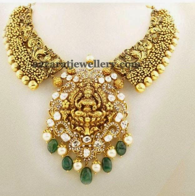 Jewellery Designs: Lakshmi Necklace by Nac