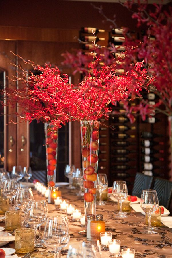 California Wedding By Stella Alesi Photography Apple Centerpieces
