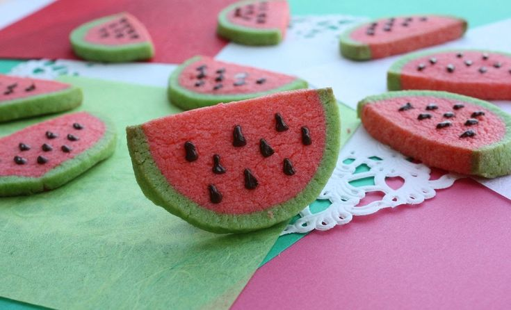 How to Make Watermelon cookies  スイカクッキー Recipe レシピ